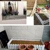 5pcs Picket Round Fence Garden Rail Fence Indoor Outdoor Lawn Patio DIY Fairy Garden Miniature Small Wood Fencing Gates Decor discount
