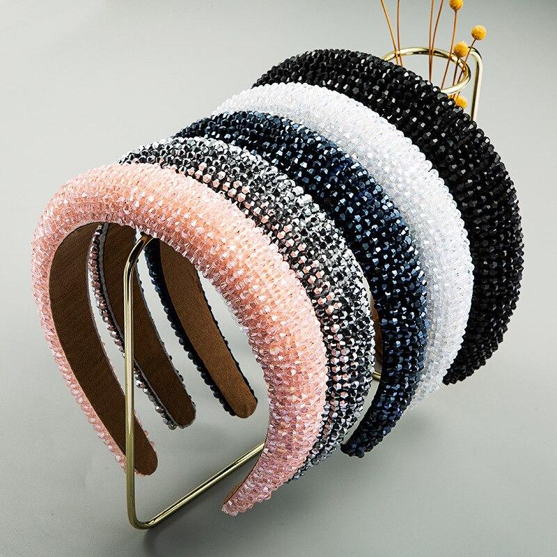 Лидер продаж, новый дизайн, блестящие стразы, Кристальные повязки для женщин, 2020, плетеная ручная работа, алмазная оголовье для женщин