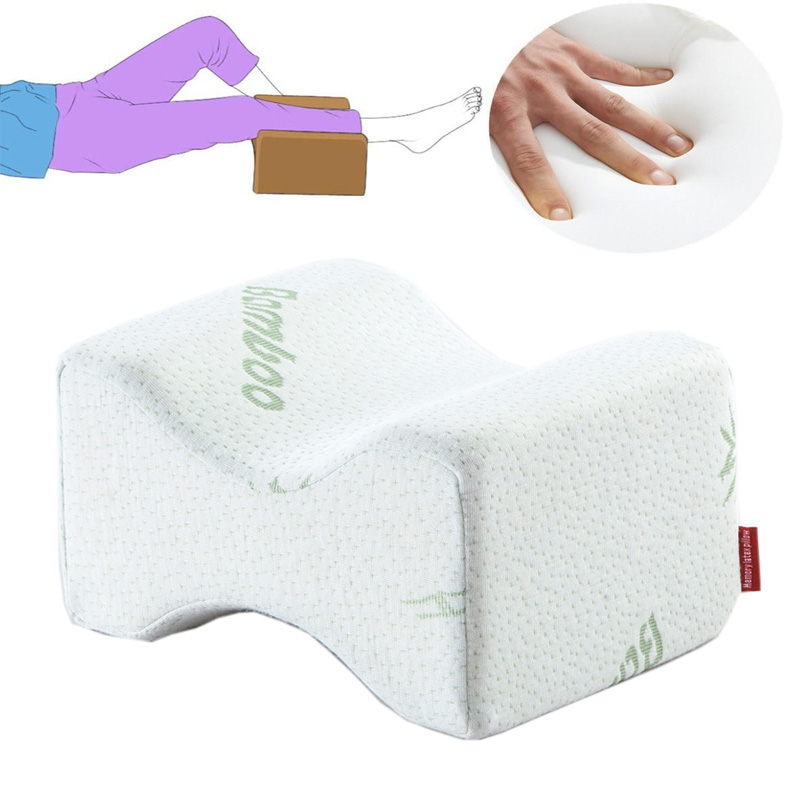 New Memory Foam Knee Leg Pillow Bed Spacer Cushion Wedge Pressure Relief Sleep Aid Knee Pillow