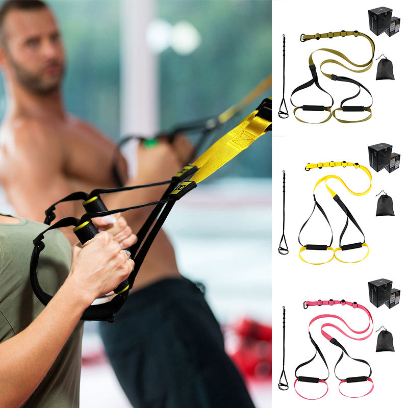 Bodyweight Suspension Trainer Resistance Bands Fitness Hanging Belt Training Gym Workout Exercise Pull Rope Stretching Straps