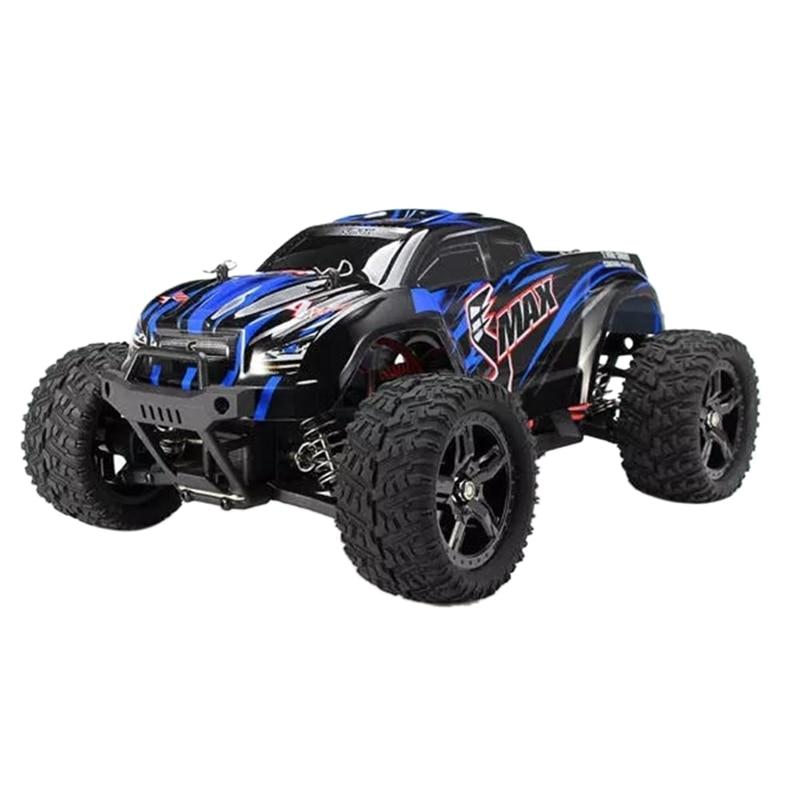 1631 1:16 2.4G Electric 4WD Remote Control Truck Children's Toys Blue EU Plug
