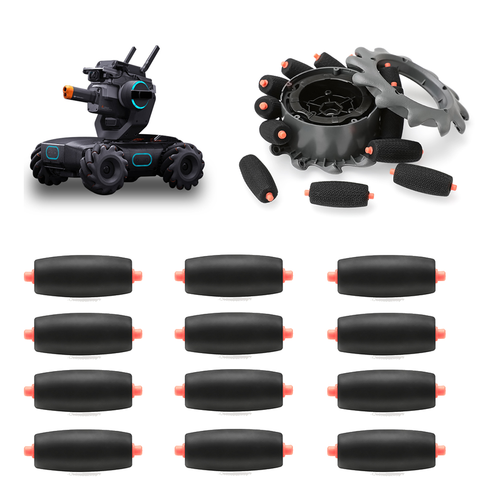 12pcs DJI Robomaster S1 Off-road Wheel And Repair Tires Mecanum Wheels / Tire Repair Parts For  RoboMaster S1 Robot Accessories