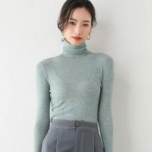 Женский шерстяной свитер с высоким воротом вязаный кашемировый