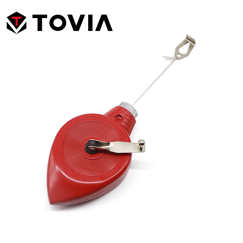 TOVIA Aluminum Alloy Chalk Line Woodworking Tool Chalkline 30M Nylon Line Measuring Construction Tool