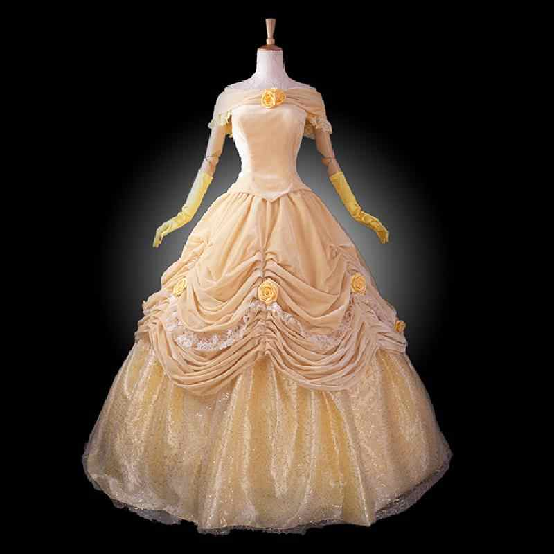 Halloween Costumes For Women Princess.Adult Princess Belle Costume Women Beauty And The Beast Costume Cosplay Halloween Costumes For Women Velour Prom Dress Custom Beauty And Beast Costume Princess Belle Costumeadult Princess Belle Costume Aliexpress