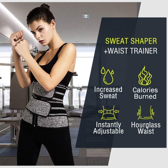 TJ-TingJun Waist Corset Trainer Sauna Sweat Sport Girdles  Women Lumbar Shaper Workout Trimmer Shapewear Slimming Belt H1029 1