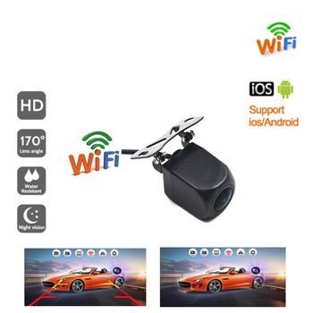 BYNCG Wireless Car Rear View Camera WIFI Reversing Dash Cam HD Night Vision Mini Body Tachograph for iPhone and Android