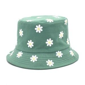 Chapéu tipo bucket hat, chapéu feminino de algodão
