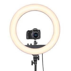 Image 5 - Fosoto RL 18BII LED Ring Light 3200 5600K illuminazione della lampada con treppiede e Slot per batterie per fotocamera foto Youtube Studio Video Makeup