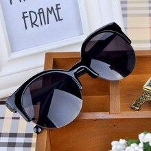 DUBERY Fashion Semi Rimless Leopard Frame Cat Eye Sunglasses