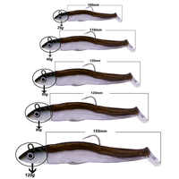 Hunthouse negro minnow fácil shinner plomo jig cabeza señuelo suave cebo pescar leurre para pesca bajo 25g 40g nuevo estilo 60g 90g 120g