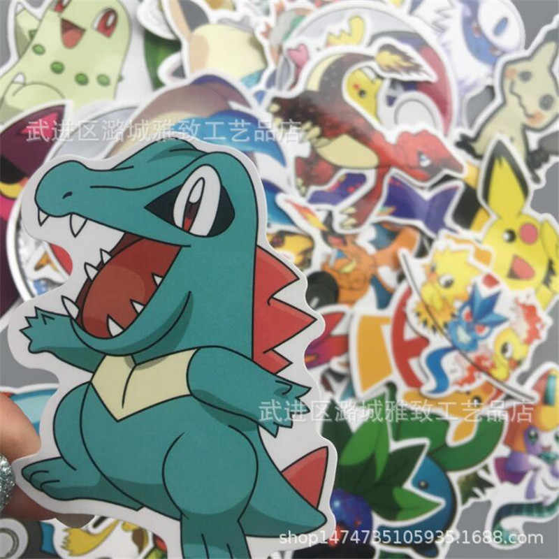Cartoon Anime Around Pokemon Cute Graffiti Sticker 45pc Bicycle Computer Skateboard Suitcase Personalized Waterproof PVC Sticker