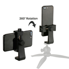 2020 New Universal Phone Tripod Mount Adapter Cellphone Clipper Stand Vertical 360 Degree Adjustable Holder