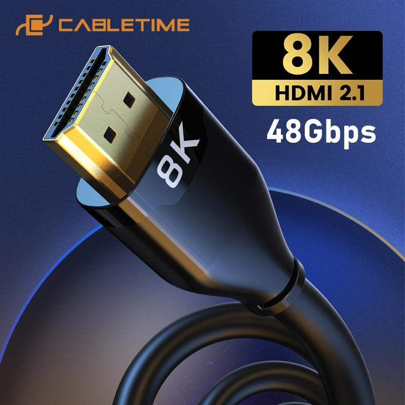 Kabel HDMI 2.1 CABLETIME 8K za $6.99 / ~26zł