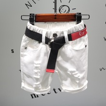 Детская одежда; Новинка года; сезон лето; однотонные повседневные брюки в Корейском стиле с дырками; шорты; Zy836(из искусственной кожи