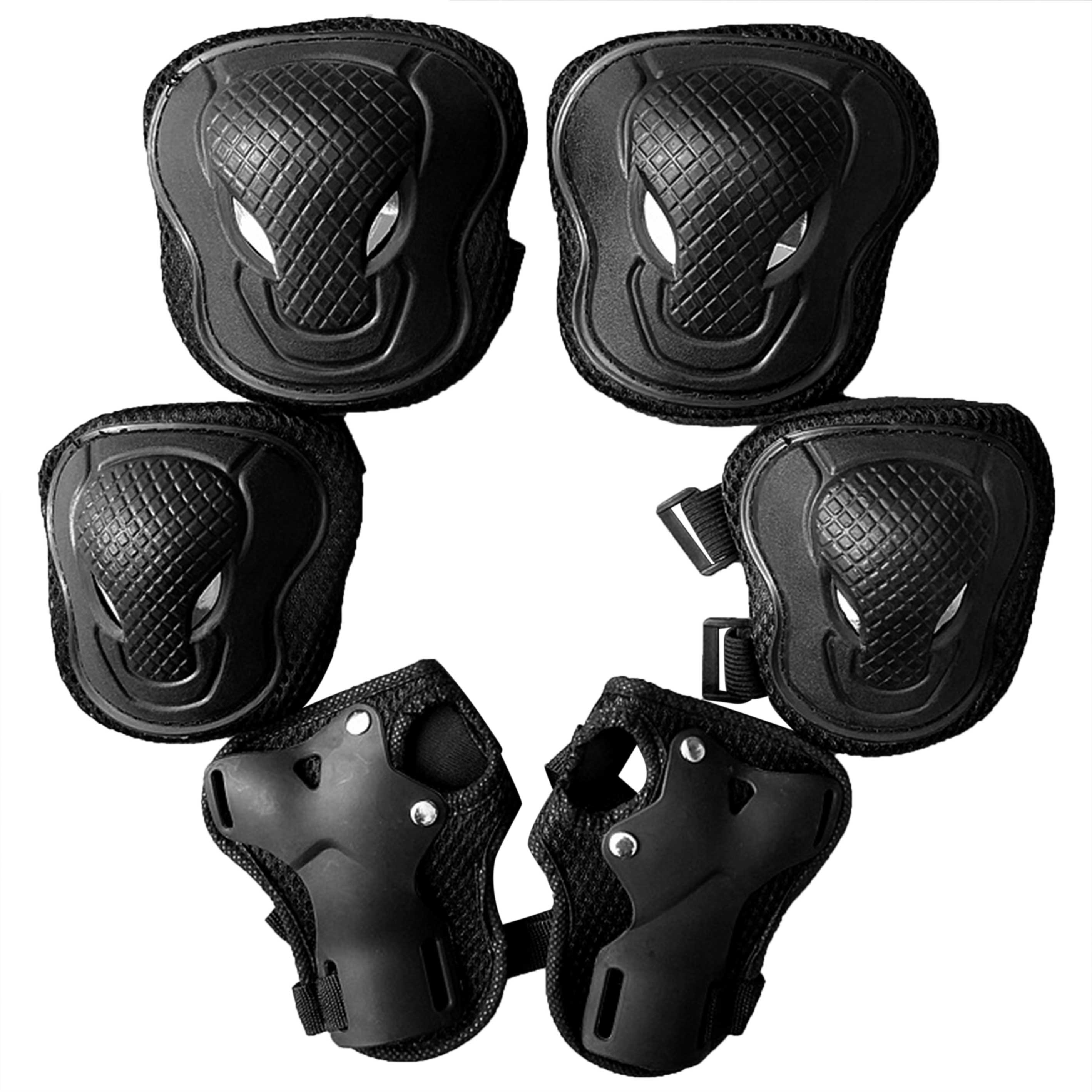 6pcs Accessories Outdoor Sports For Kids Safety Elbow Knee Pads Sponge Wrist Guard Protective Gear Set Roller Skating Cycling
