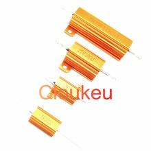 RX24-5W 10W 25W 50W 5% resistência alumínio Dourado 25R 27R 30R 32R 33R 36R 39R 40R 43R 47R 50R 51R 56R 60R 62R 68R 70R 75R ohm