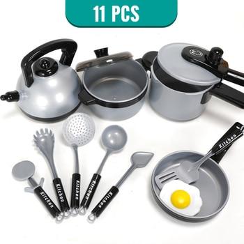 11-50 PCS Kids Girls Gift Pretend Cook Play Mini Kitchenware Simulation Toys Set Cookware Pot Pan Utensils Toys For Children 1