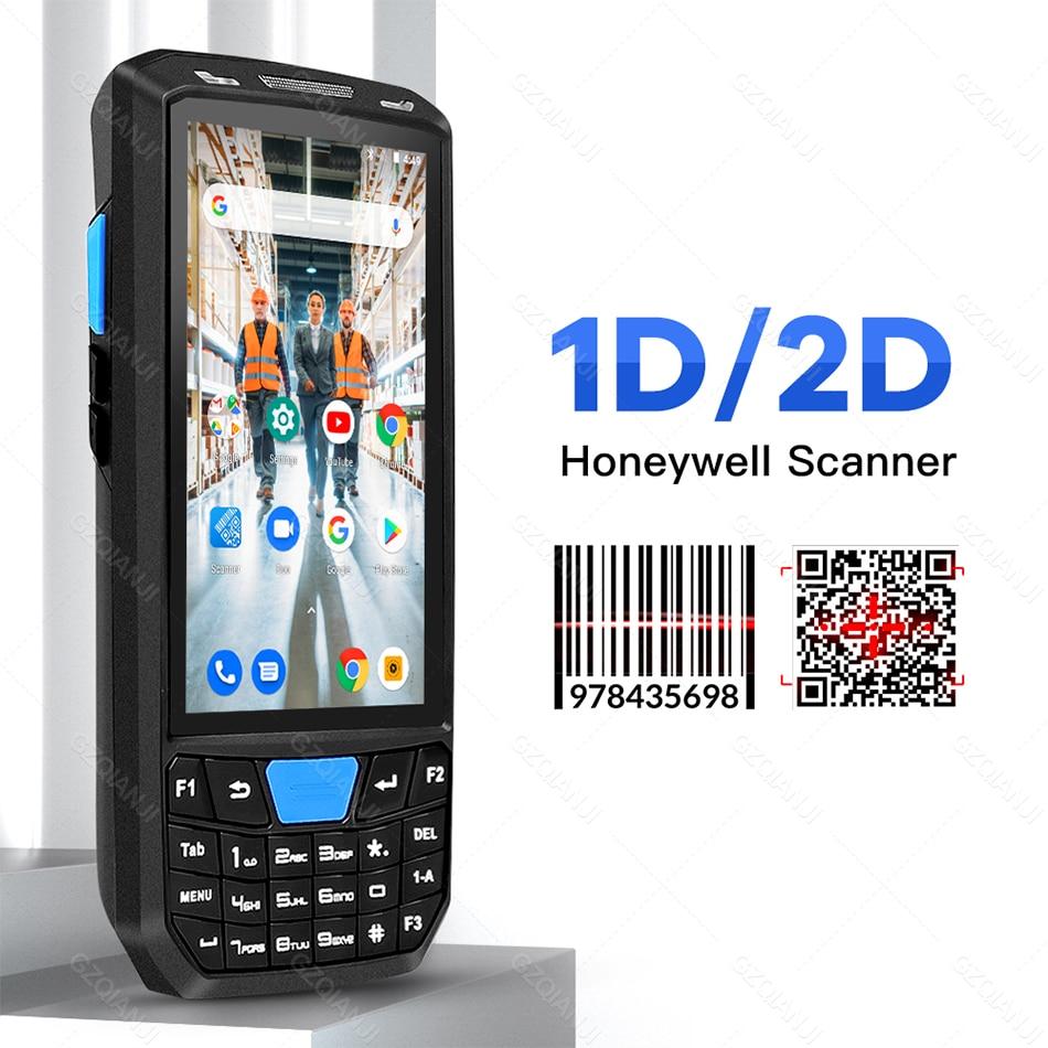 Прочный промышленный PDA сканер штрих-кодов Android 8,1 мобильный телефон с 1d лазером 2D QR считыватель Ручной терминал сбора данных PDA