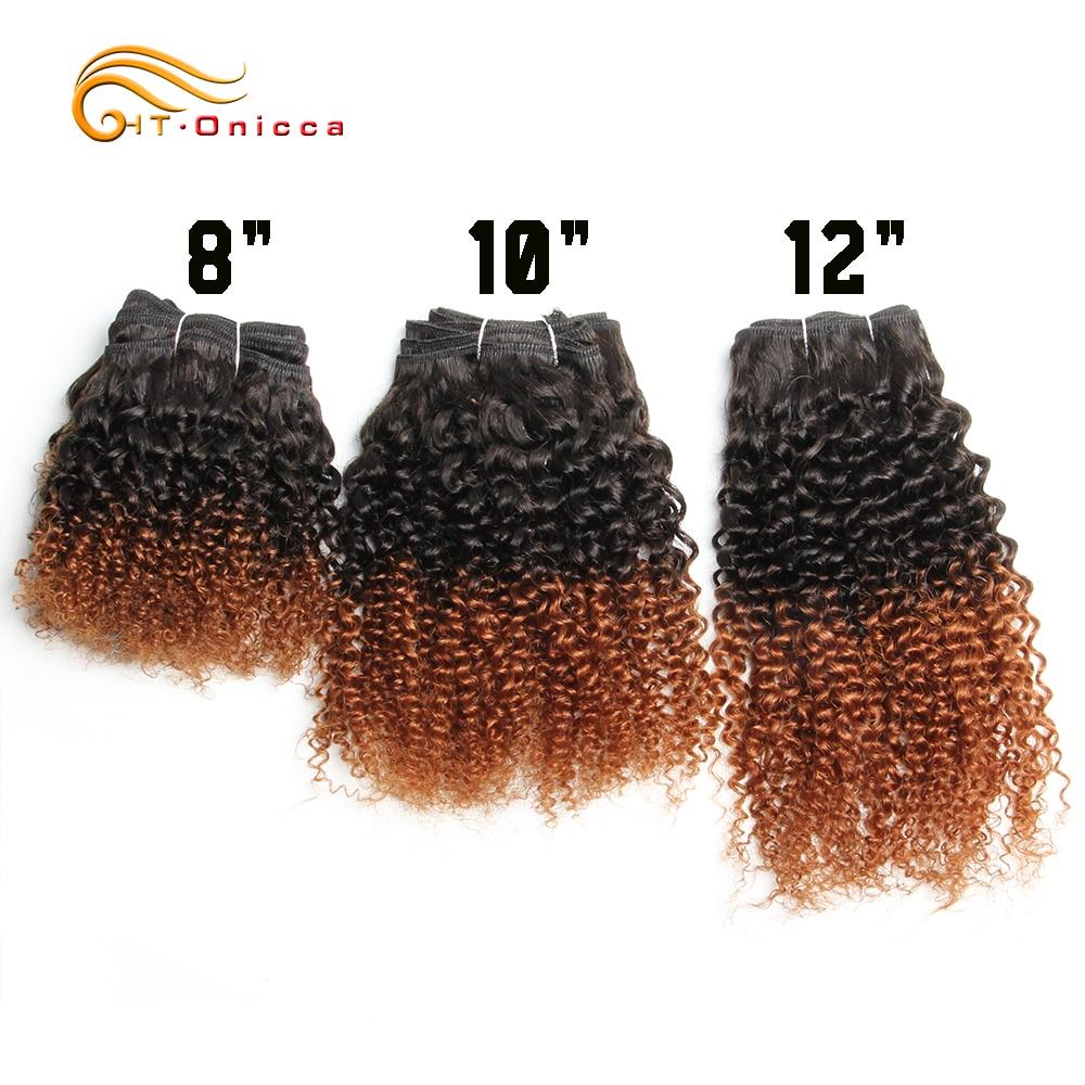 6Pcs/Lot  Curly Bundles Jerry Curl Double Drawn   Funmi Hair T1B 30 99J Colored Hair  Htonicca 2