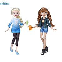 Hot Disney Princess Modern Fashion Collection Anna Elsa Dolls For Girls Anna Elsa Toys For Children Original box High Quality