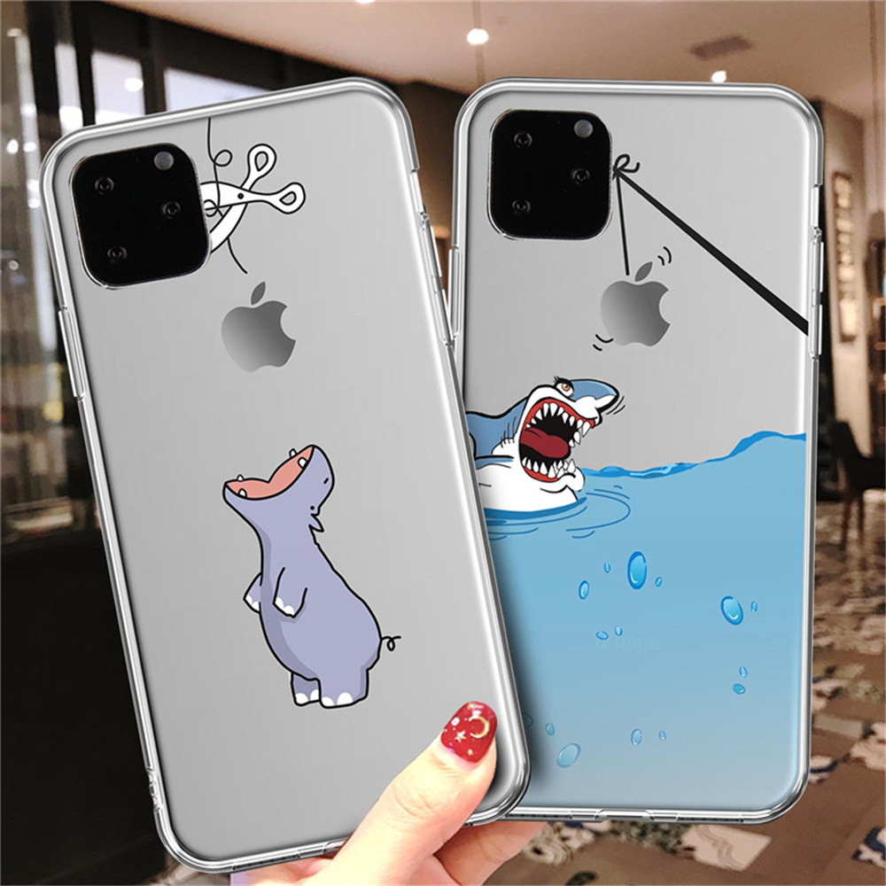 Cute Animal Funny Cartoon Case For iPhone 11 Pro Max X XS XR Max