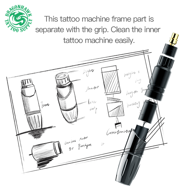 Top Permanent Makeup Machine Rotary Tattoo Gun Pen Eyebrow Lips Tattoo Machine Pen Device Set Accessories for Tattoo 4