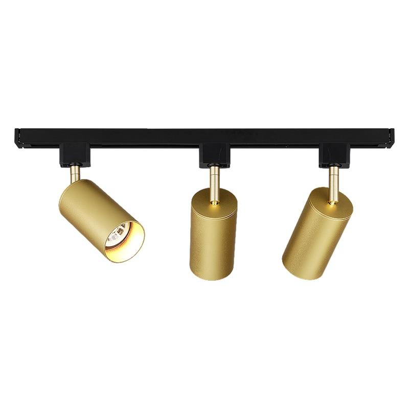 Gold White Black COB LED Track Light GU10 Bulb 5W Rail Track Lighting Spotlights LED Ceiling Spot Light Lamp Kitchen Coffee Shop