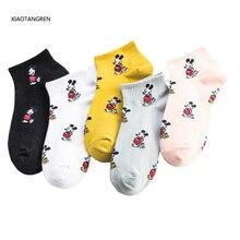 New women Socks Harajuku Cartoon funny mickey Cute animale fashion spring and fall short socks Korea Happy girl