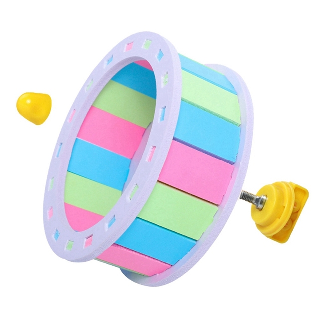 Pet Sports Fitness Hamster Running Wheel Hamster Jogging Wheel DIY Mute Color Funny Running PVC Disc Toy Hamster Pet Products 5