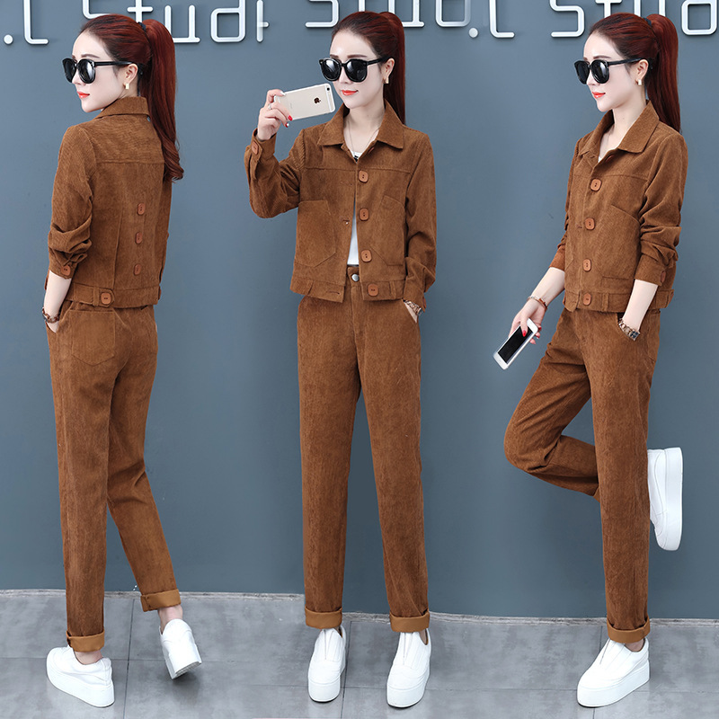 Fashion Loose Pants Sub-Set 2020 Spring, Autumn And Winter New Style Korean-style WOMEN'S Wear Royal Sister Goddess Ocean Elegan