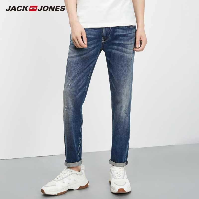 JackJones Men's Autumn Stretch Tapered-leg Cropped Jeans Fashion Pants Menswear 218332542 219232506