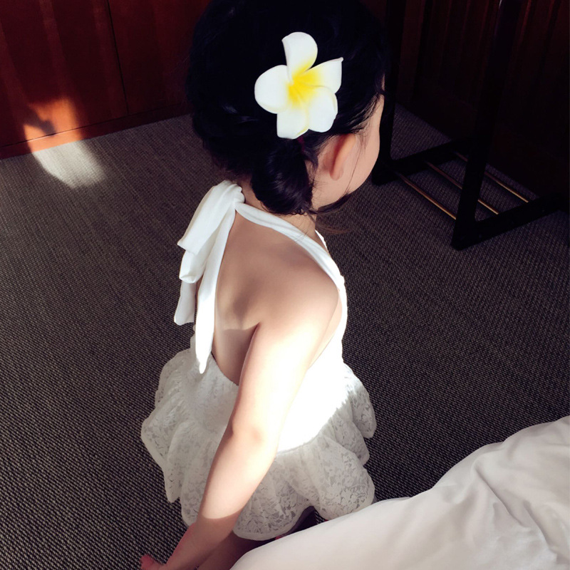 CHILDREN'S Swimwear GIRL'S Bathing Suit Split Type Princess Dress-Swimwear Baby South Korea Girls Lace Infant Bikini