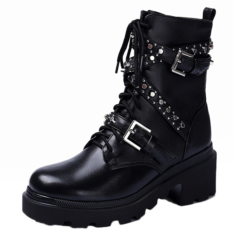Женская обувь из нубука и искусственной кожи; большие размеры; ботильоны на платформе с бахромой; женские зимние ботильоны с пряжкой; цвет к... - 2