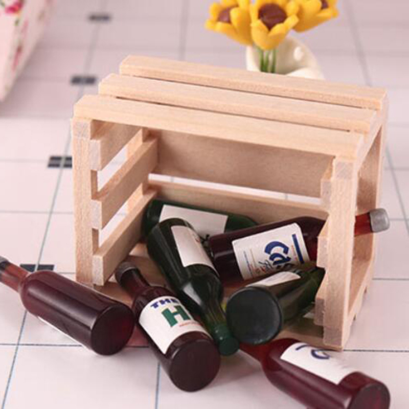 1PCS Miniature Vegetable Fruits Basket Container Accessories For 1:12 Scale Dollhouse And Kids Pretend Play Restaurant