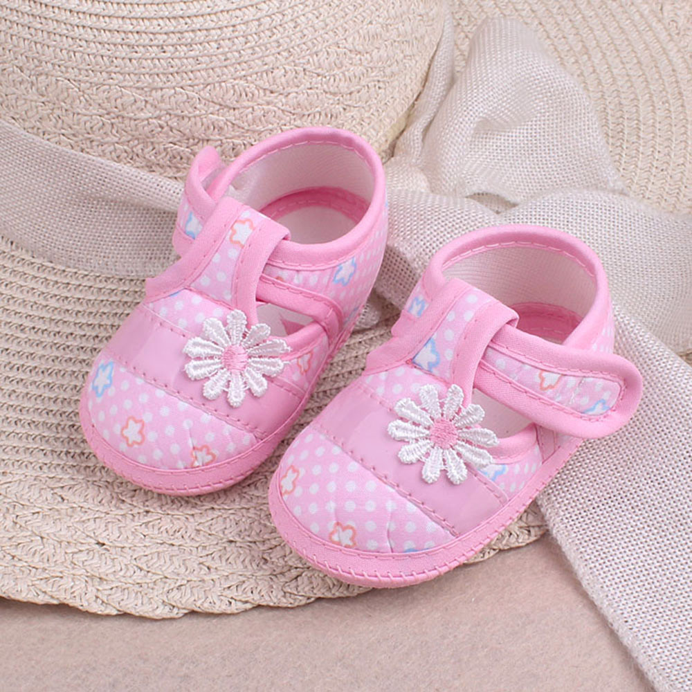 Flower Applique Baby Shoes Baby Girl Shoes Cute Toddler Shoes Princess Newborn Infant Baby Booties 2019 First Walkers Buty
