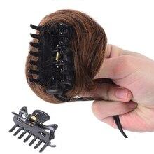 Bybrbana бразильские человеческие волосы не-Реми кудрявые заколки шиньон с эластичной резинкой человеческие волосы резинка для волос обертка волосы грязные
