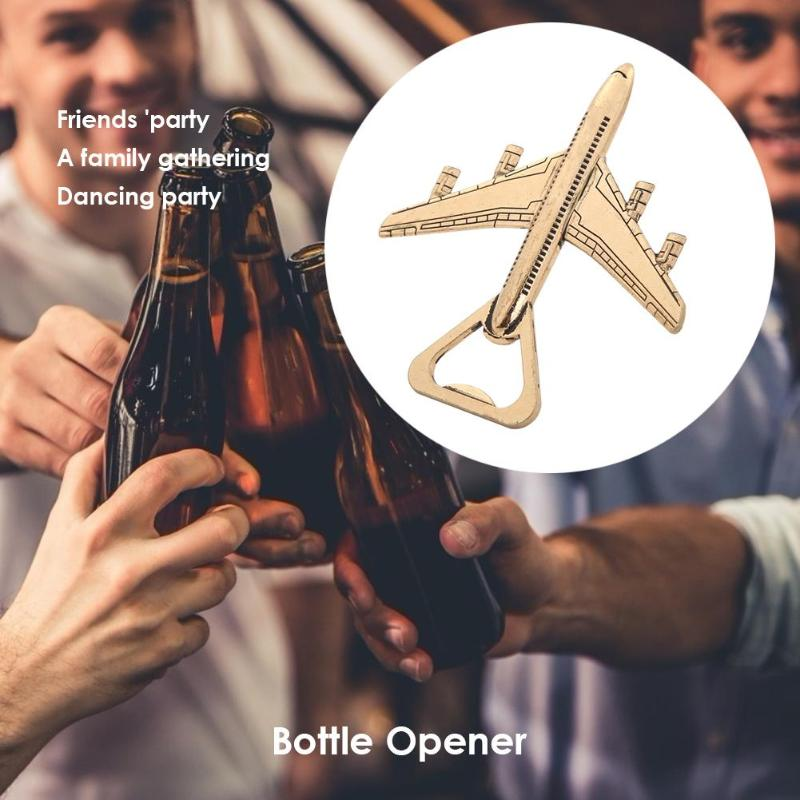 VKTECH Airplane Shaped Beer Bottle Opener 100% Brand-New Excellent Stainless SteelGift Box For Party Decor Wedding Kitchen Tools