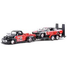 Maisto 1:24 1948 Ford F1 Pickup & 1967 Ford Mustang GT Static Die Cast Vehicles Collectible Model Sports Car Toys
