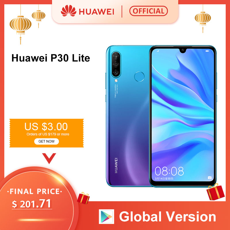 Global Version Huawei P30 Lite 4GB 128GB 6.15 Smartphone Global Version Inch Kirin 710 Mobile Phone  Android 9.0 CellPhone