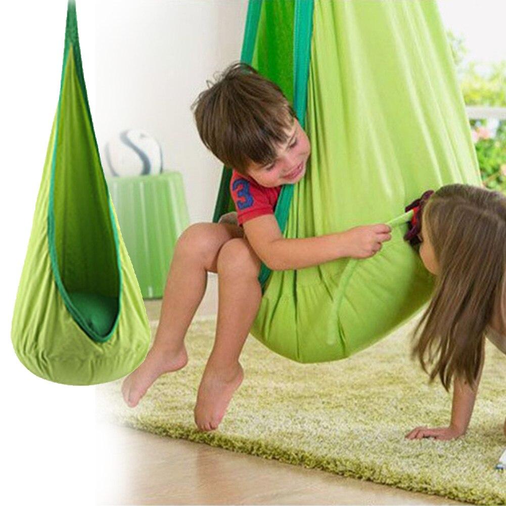 Swing Pod Hammock Chair Hanging Seat Comfortable Space Saving Tree Indoor Children Roof Air Cushion Home Zipper Courtyard