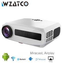 WZATCO-Proyector LED C3 para cine en casa, dispositivo de vídeo inteligente para cine en casa, con Android 10,0, wi-fi, Full HD, 1080P, pantalla grande de 300 pulgadas