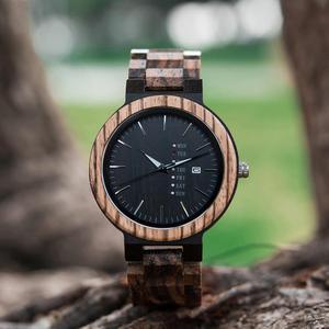 Image 4 - Bobo Vogel Mannen Horloge Automatische Datum Week Display Hout Horloges Mannelijke Uurwerken Quartz Horloges Relogio Masculino Gift