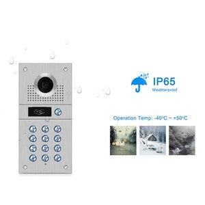 Image 3 - Tuya sistema de intercomunicación inteligente con detección de movimiento, teclado de código, cámara RFID, Vídeo IP, WiFi, envío gratis