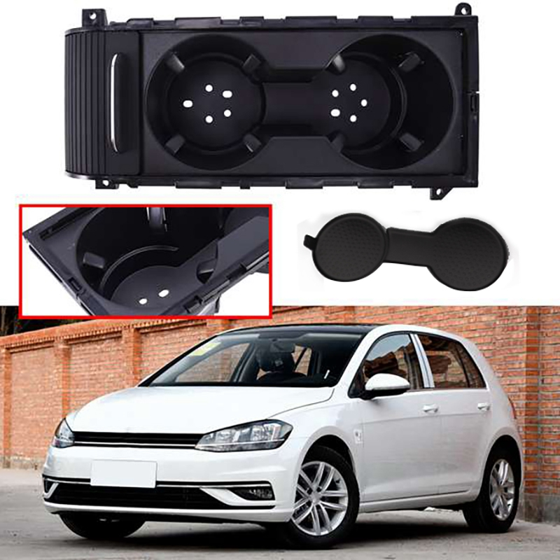 Car Center Console Water Cup Holder Storage Box With Sliding Lid For Golf 7 MK7 2013 2014 2015 2016 2017 5GG 862 531