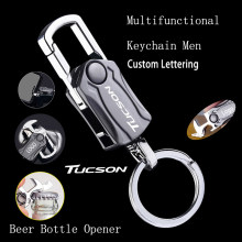 Finger Spinner Men's Multifunctional metal Keychain for Hyundai Tucson nx4 2015 2016 2017 2018 2019 2020 2021 Accessories