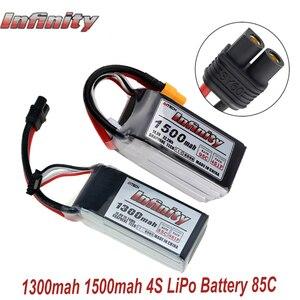 Image 1 - Infinity 4S 14,8 в 1500 мАч 95C 1300 мАч 85C графеновая литий полимерная аккумуляторная батарея SY60 Plug Connector Support 15C Boost Charger