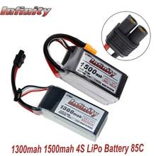 Infinity 4S 14.8V 1500mAh 95C 1300mAh 85C graphène LiPo batterie Rechargeable SY60 prise connecteur prise chargeur 15C