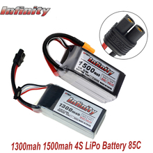 Unendlichkeit 4S 14,8 V 1500mAh 95C 1300mAh 85C Graphene LiPo Batterie Wiederaufladbare SY60 Stecker Stecker Unterstützung 15C steigerung Ladegerät