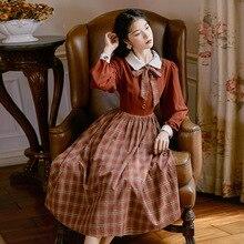 Новая мода Женская одежда Питер Пэн воротник винтажное платье женские платья